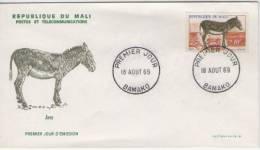 FDC MALI 1969   âne /  Donkey