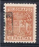 Sello 10 Pts Castaño Telegrafos 1921, Num 62 º - Télégraphe