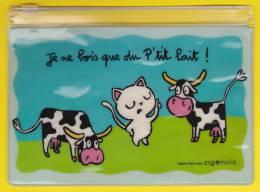 Pochette Amusante Pour Ethylotest. Je Ne Bois Que Du Petit Lait. - Other