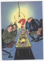 TRESORS DU JOURNAL DE SPIROU  CARTE ILLUSTREE PAR FRANQUIN 1985   N° 64  CPSM 10 X 15 NEUVE - Stripverhalen