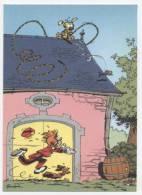 TRESORS DU JOURNAL DE SPIROU  CARTE ILLUSTREE PAR FRANQUIN 1985   N° 68  CPSM 10 X 15 NEUVE - Stripverhalen