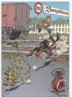 TRESORS DU JOURNAL DE SPIROU  CARTE ILLUSTREE PAR FRANQUIN 1985   N° 70  CPSM 10 X 15 NEUVE - Stripverhalen