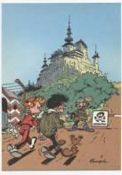 TRESORS DU JOURNAL DE SPIROU  CARTE ILLUSTREE PAR FRANQUIN 1985   N° 71  CPSM 10 X 15 NEUVE - Stripverhalen