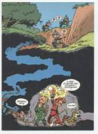 TRESORS DU JOURNAL DE SPIROU  CARTE ILLUSTREE PAR FRANQUIN 1985   N° 72  CPSM 10 X 15 NEUVE - Stripverhalen