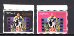 "Philippines 1983 Michel 1511-1512 Manila International Film Festival Set Of 2 ""Specimen"" MNH - Filippine"