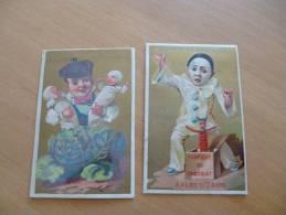 Lot 2 Chromos.Fabrique De Chocolat .Anrich Et Carbonne.Arles Sur Tech . Enfants.dont Pierrot. - Autres