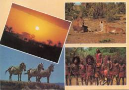 Afrique-KENYA-Popular Kenya Scenes (multi Vues Pas De Timbre =timbre Décollé)(Ed:Kall Kwik Monbasa  M2006)*PRIX FIXE - Kenya