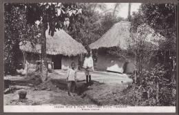 TRINIDAD  Indian Mud & Palm Thatched Huts  Tr70 - Trinidad