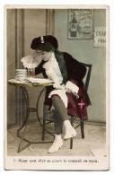 Jeune Fille Déguisée Endormie à Table - Carte M.F. Paris Colorisée écrite & Timbrée En 1905 - Humour