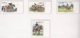 1998 Irlanda Ireland Eire Equestrian Sports SG 1159/1162 MNH - 1949-... Repubblica D'Irlanda