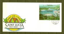 SAINT LUCIA, 27/03/1991 First Day Cover - CASTRIES (GA8442) - Bateaux