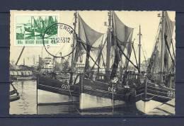 BELGIE, 11/12/1953 Briefkaart Van OOSTENDE (GA8454) - Bateaux