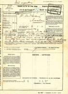 576/20 - PREMIER MOIS DE GUERRE - Document Chemins De Fer Gare BRUXELLES Nord 17 Aout 14 Vers ESSCHEN 17 VIII 14 - WW I