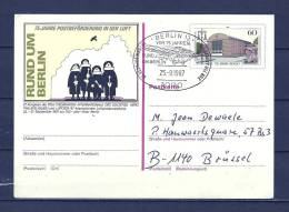 DUITSLAND, 25/09/1987 75 Jahre Postbeforderung - BERLIN  (GA8628) - Flugzeuge