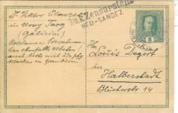 """Entier Postal Autrichien Utilisé En Pologne Censure""""K.u.k.zensurstell E Neu-Sandez"""" (Nowy-sacz) - Covers & Documents"""