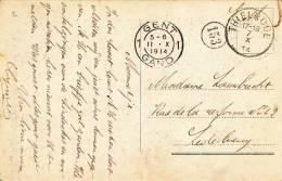 581/20 - PREMIERS MOIS DE GUERRE - Carte-Vue En SM THIELRODE 7 X 1914 Vers LEDEBERG GENT 11 X 1914 - Date TARDIVE - WW I