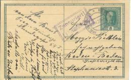 """Entier Postal Autrichien Utilisé En Tchécosslovaquie """" Zensuriert! / K.u.k.zensurstelle Prag"""" (Prague) - Covers & Documents"""