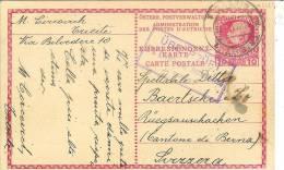 """Entier Postal Poste Autrichienne Au Levant """"überprüft / K.u.k.territorial Zensur Kommission In Triest"""" - 1850-1918 Empire"""