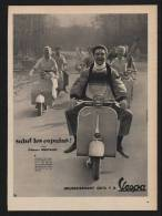 Pub 1957 Moto  Motocyclette Scooter VESPA Velomoteur Salut Les Copains Gilbert Becaud Dos Lessive OMO Dessin Fillette - Publicités