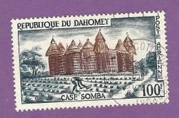 DAHOMEY TIMBRE POSTE AERIENNE N° 18 OBLITERE CASE SOMBA - Benin – Dahomey (1960-...)