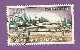 DAHOMEY TIMBRE POSTE AERIENNE N° 24 OBLITERE AVION DOUGLAS DC 8 - Benin – Dahomey (1960-...)