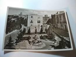 Enna Piazza Crispi Fontana Col Ratto Di Proserpina - Enna