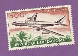 DAHOMEY TIMBRE POSTE AERIENNE N° 27 OBLITERE AVION DOUGLAS DC 8 - Benin – Dahomey (1960-...)