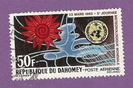 DAHOMEY TIMBRE POSTE AERIENNE N° 29 OBLITERE JOURNEE METEOROLOGIQUE - Benin – Dahomey (1960-...)