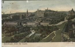 JRR Postcard  - Edinburgh, From The Castle - Midlothian/ Edinburgh