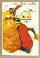 SANTA CLAUS With Bag Full Of Presents, 1985., Yugoslavia () - Santa Claus