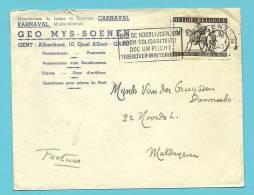606 (surtaxe - Toeslagzegel) Op Brief Met Stempel GENT - Briefe U. Dokumente
