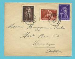 702+703+705 (surtaxe - Toeslagzegel) Op Brief Met Stempel ANTWERPEN - Briefe U. Dokumente