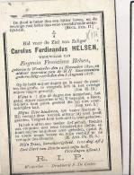 ( E57 ) DEVOTIEPRENTJE: ° WESTERLOO 1841 + 1878  CAROLUS HELSEN - Images Religieuses