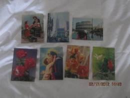 Lot De 7 Cartes En 3D - Cartoline