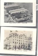 PERU 2 FOTOS CIRCA 1950 TERMINAL MARITIMO Y ADUANA EL CALLAO Y GRAN HOTEL BOLIVAR LIMA