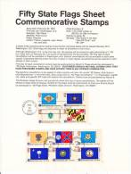 U.S. SP 405  STATE  FLAGS - Souvenirs & Special Cards