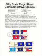 U.S. SP 406  STATE  FLAGS - Souvenirs & Special Cards