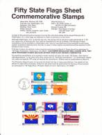U.S. SP 409   STATE  FLAGS - Souvenirs & Special Cards