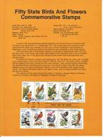U.S. SP 577   STATE  BIRDS And  FLOWERS - Souvenirs & Special Cards