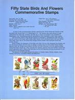 U.S. SP 578   STATE  BIRDS And  FLOWERS - Souvenirs & Special Cards