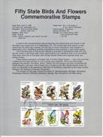 U.S. SP 579   STATE  BIRDS And  FLOWERS - Souvenirs & Special Cards