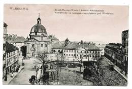 WARSZAWA - Rynek Nowego Miasta I Kosciot Sakramentek - Colorized Card - Back Is Written - Pologne