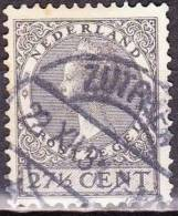 1926-1939 Langebalkstempel ZUTPHEN Op Koningin Wilhelmina Veth 27½ Cent Grijs Met WM Ringen NVPH 193 - Poststempels/ Marcofilie