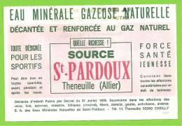 03 - THENEUILLE (CERILLY) - Etiquette Eau Minérale Gazeuse SOURCE St PARDOUX - Labels