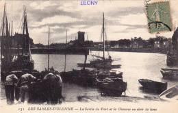 CPA Des SABLES D'OLONNE     (85) - La Sortie Du Port Et La Chaume Au Clair De Lune - N° 151 - ANIMATIONS - - Sables D'Olonne