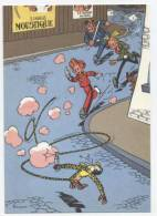 TRESORS DU JOURNAL DE SPIROU  CARTE ILLUSTREE PAR FRANQUIN 1985   N° 28  Cpsm  10 X 15  Neuve - Stripverhalen