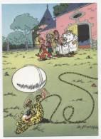 TRESORS DU JOURNAL DE SPIROU  CARTE ILLUSTREE PAR FRANQUIN 1985   N° 43  CPSM 10 X 15 NEUVE - Stripverhalen