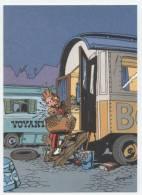 TRESORS DU JOURNAL DE SPIROU  CARTE ILLUSTREE PAR FRANQUIN 1985   N° 48  CPSM 10 X 15 NEUVE - Stripverhalen