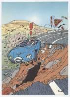 TRESORS DU JOURNAL DE SPIROU  CARTE ILLUSTREE PAR FRANQUIN 1985   N° 46  CPSM 10 X 15 NEUVE - Stripverhalen