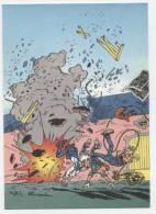 TRESORS DU JOURNAL DE SPIROU  CARTE ILLUSTREE PAR FRANQUIN 1985   N° 34  CPSM 10 X 15 NEUVE - Stripverhalen